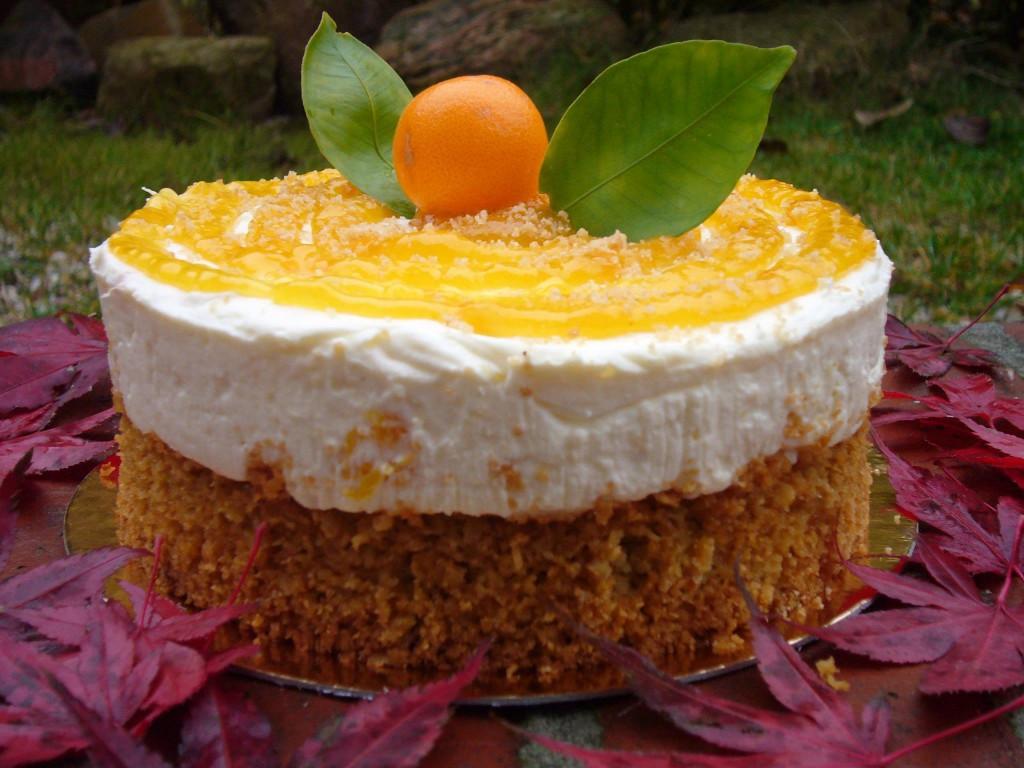 Haferflocken Orangen Käse Sahne Torte